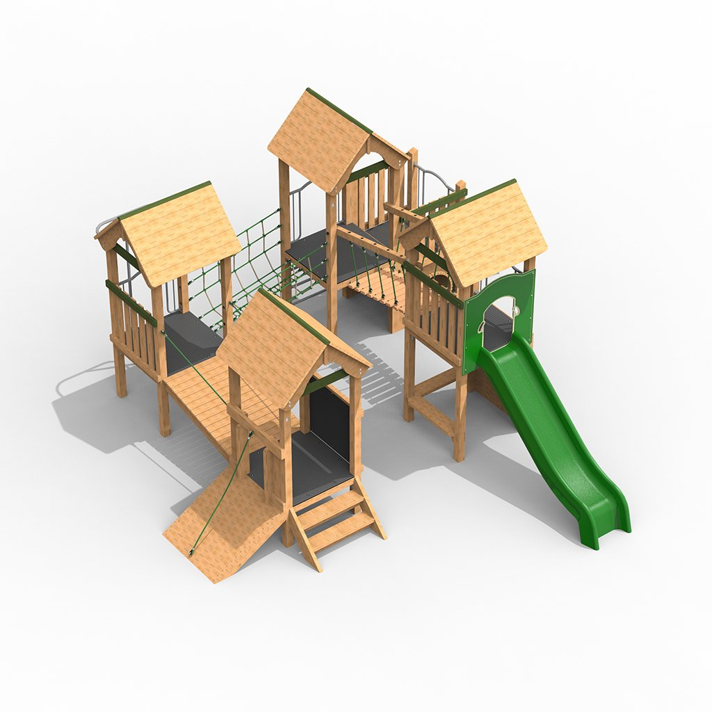 Timber Play Tower